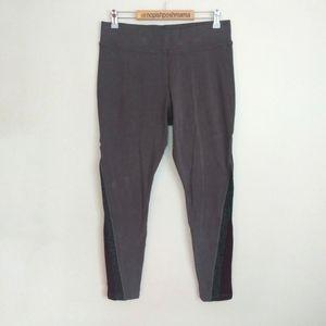 LOGO Lotus Leggings Striped Sides Grey Size Medium